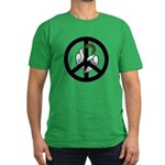 Peace Sign Men's Fitted T-Shirt (dark)