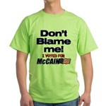 Don't Blame Me Green T-Shirt