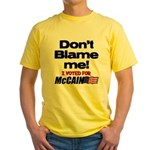 Don't Blame Me Yellow T-Shirt