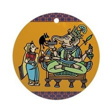India Folk Art Ornament (Round)
