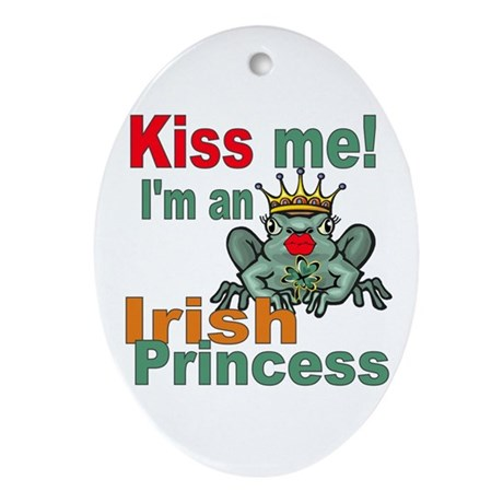 Funny Irish Princess Oval Ornament