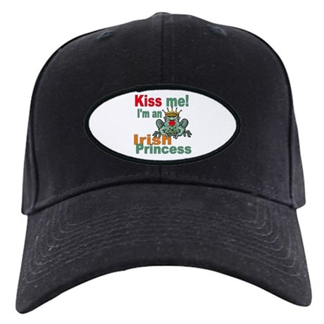 Funny Irish Princess Black Cap