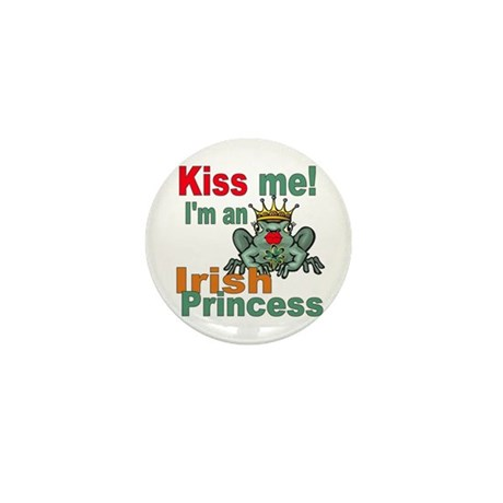 Funny Irish Princess Mini Button