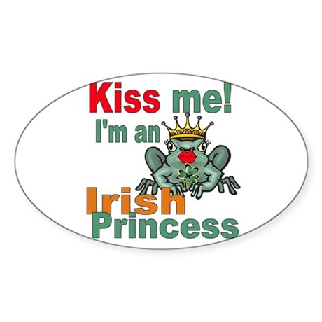 Funny Irish Princess Oval Sticker
