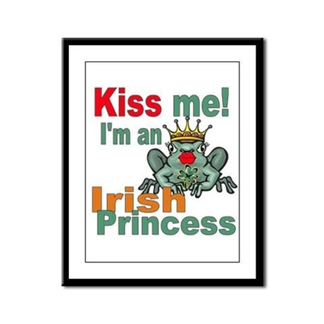 Funny Irish Princess Framed Panel Print