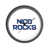nico rocks Wall Clock