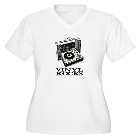VINYL ROCKS II Women's Plus Size V-Neck T-Shirt