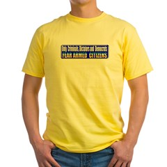 Dictators & Democrats Yellow T-Shirt