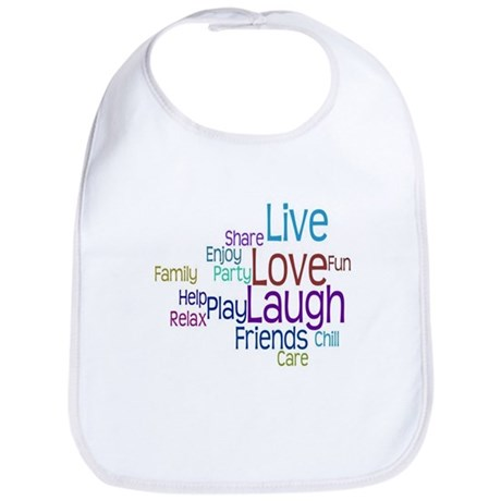 Live, Love, Laugh Bib