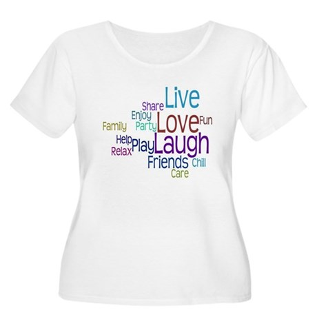 Live, Love, Laugh Women's Plus Size Scoop Neck T-S