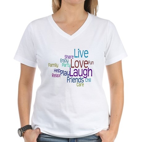 Live, Love, Laugh Women's V-Neck T-Shirt