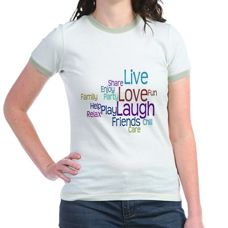 Live, Love, Laugh Jr. Ringer T-Shirt