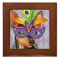 Party Min Pin Framed Tile