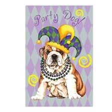 Party Bulldog Postcards (Package of 8)