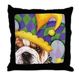 Party Bulldog Throw Pillow