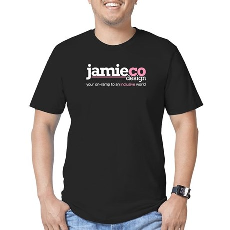 JamieCo Design Logo Men's Fitted T-Shirt (dark)