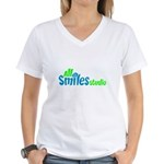 All Smiles Studio Women's V-Neck T-Shirt