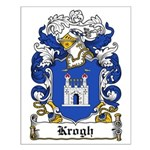 Krogh Coat of Arms Small Poster