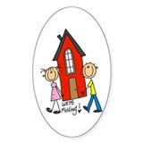 House We're Moving Oval Decal