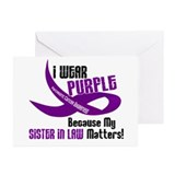 I Wear Purple (Sister-In-Law) 33 PC Greeting Cards