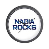 nadia rocks Wall Clock