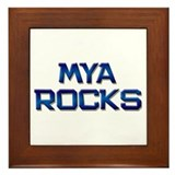 mya rocks Framed Tile