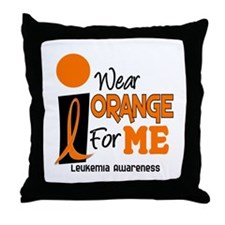 I Wear Orange For ME 9 Leukemia Throw Pillow
