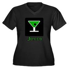 Juiced-Green- Women's Plus Size V-Neck Dark T-Shir