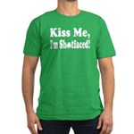 Kiss Me, I'm Shitfaced! Men's Fitted T-Shirt (dark