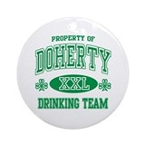 Doherty Irish Drinking Team Ornament (Round)
