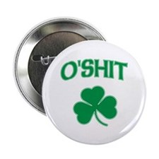 "O'Shit Irish Shamrock 2.25"" Button (100 pack)"