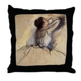 Degas The Dancer Throw Pillow
