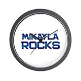 mikayla rocks Wall Clock