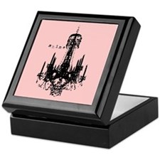 Pink Chandelier Keepsake Box