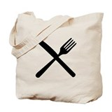 cutlery - knife and fork Tote Bag