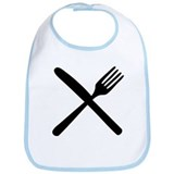cutlery - knife and fork Bib