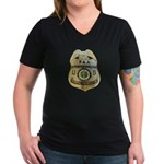 Air Marshal Women's V-Neck Dark T-Shirt