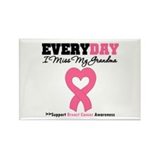 Breast Cancer Miss Grandma Rectangle Magnet (10 pa