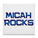 micah rocks Tile Coaster
