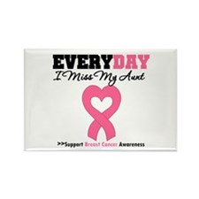 Breast Cancer Miss Aunt Rectangle Magnet