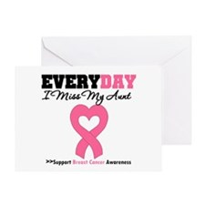 Breast Cancer Miss Aunt Greeting Card