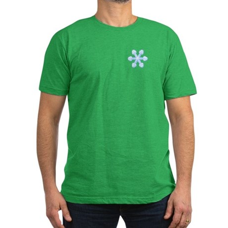 Flurry Snowflake IX Men's Fitted T-Shirt (dark)
