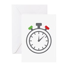 stop watch Greeting Cards (Pk of 10)