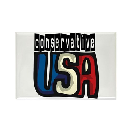 Conservative USA Rectangle Magnet (100 pack)