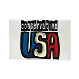 Conservative USA Rectangle Magnet