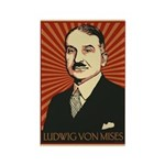 Ludwig von Mises Rectangle Magnet (100 pack)
