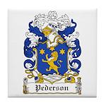 Pederson Coat of Arms Tile Coaster