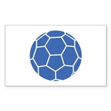 blue handball Rectangle Decal