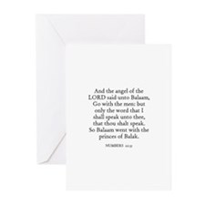 NUMBERS  22:35 Greeting Cards (Pk of 10)