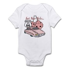 Pink Dice Rt 66 Classic Infant Bodysuit